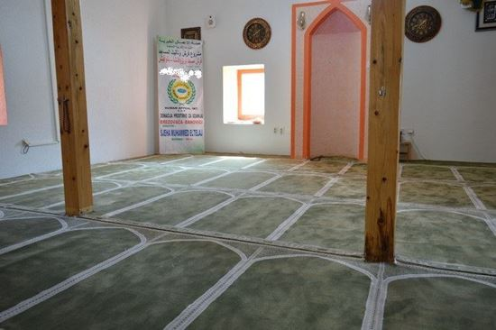Picture of Furnishing of a mosque in Kosovo