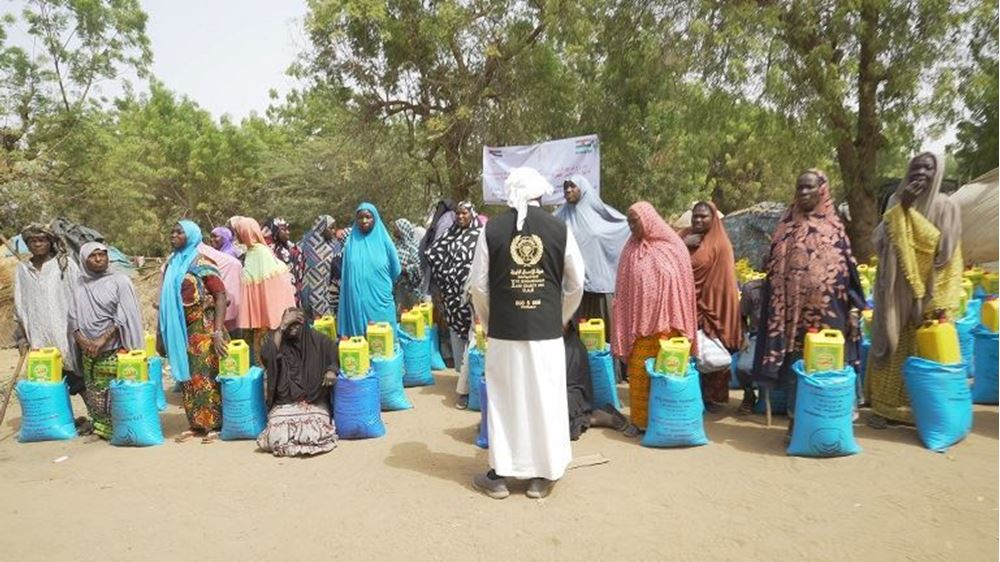 Picture of Distribution of food parcels in Niger